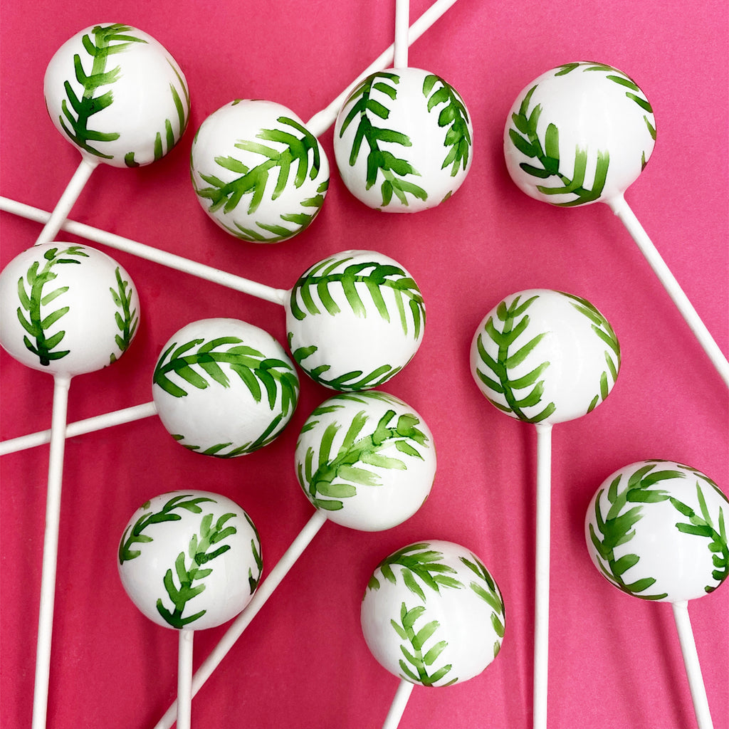 GREEN LEAVES SAFARI THEME DOZEN CAKE POPS