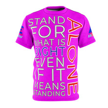 "Load image into Gallery viewer, ""STAND ALONE"" Unisex Tee (MAGENTA)"