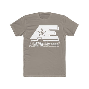 AE Logo Clean White Men's Cotton Crew Tee (Grayscale)