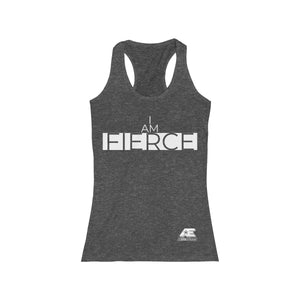 """I AM FIERCE"" (White) Women's Racerback Tank"