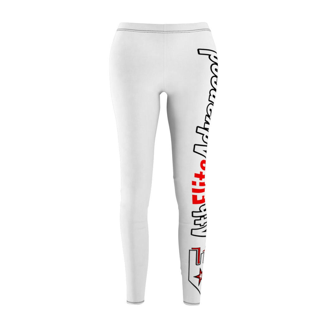 AthElite Advanced Red & White Logo Leggings