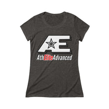 Load image into Gallery viewer, Modern AE Logo w/Red & White Ladies T-Shirt