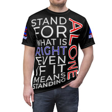"Load image into Gallery viewer, ""STAND ALONE"" Unisex Tee (BLACK)"