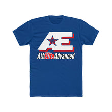 "Load image into Gallery viewer, ""White & Red"" AthElite Advanced AE Logo Cotton Men's Crew T-Shirt"