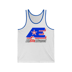 Classic Blue & Red AthElite Advanced Logo Unisex Jersey Tank