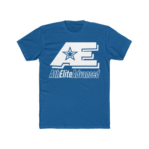 AE Logo Clean White Men's Cotton Crew Tee (Blues & Greens)