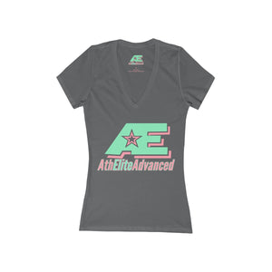 """Mint & Ginger"" AthElite Advanced AE Logo  V-Neck Women's Tee"
