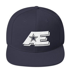 Navy Blue Snap-back Hat with White AE Advanced Logo