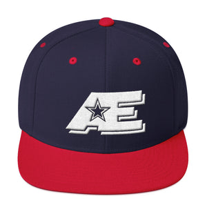 Navy & Red Snap-back Hat with White AE Advanced Logo