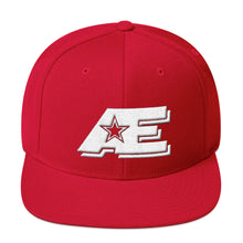 Load image into Gallery viewer, Red Snap-back Hat with White AE Advanced Logo