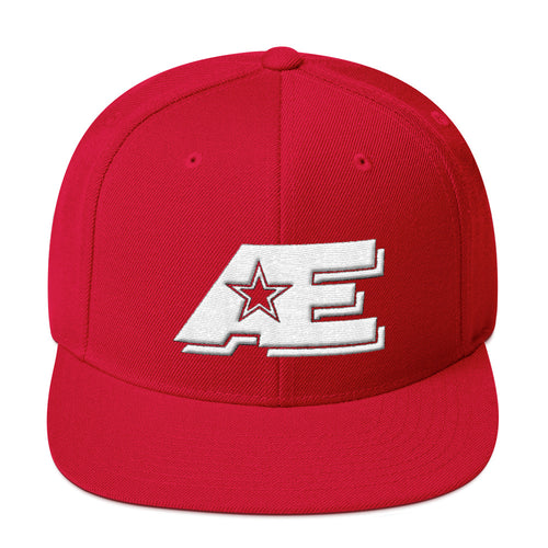 Red Snap-back Hat with White AE Advanced Logo