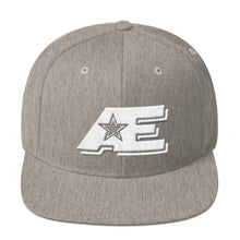 Load image into Gallery viewer, Heather Gray Snap-back Hat with White AE Advanced Logo