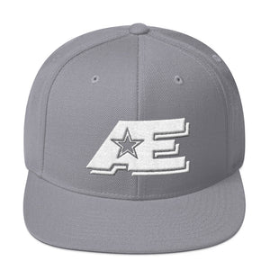 Silver Snap-back Hat with White AE Advanced Logo