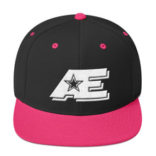 Load image into Gallery viewer, Black & Neon Pink Snap-back Hat with White AE Advanced Logo