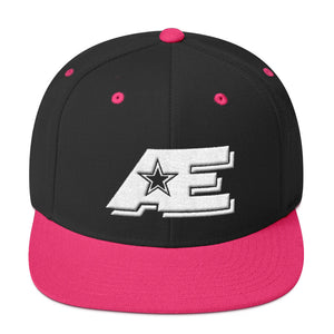 Black & Neon Pink Snap-back Hat with White AE Advanced Logo