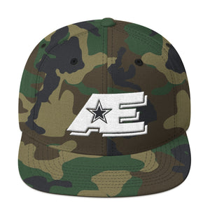 Green Camo Snap-back Hat with White AE Advanced Logo