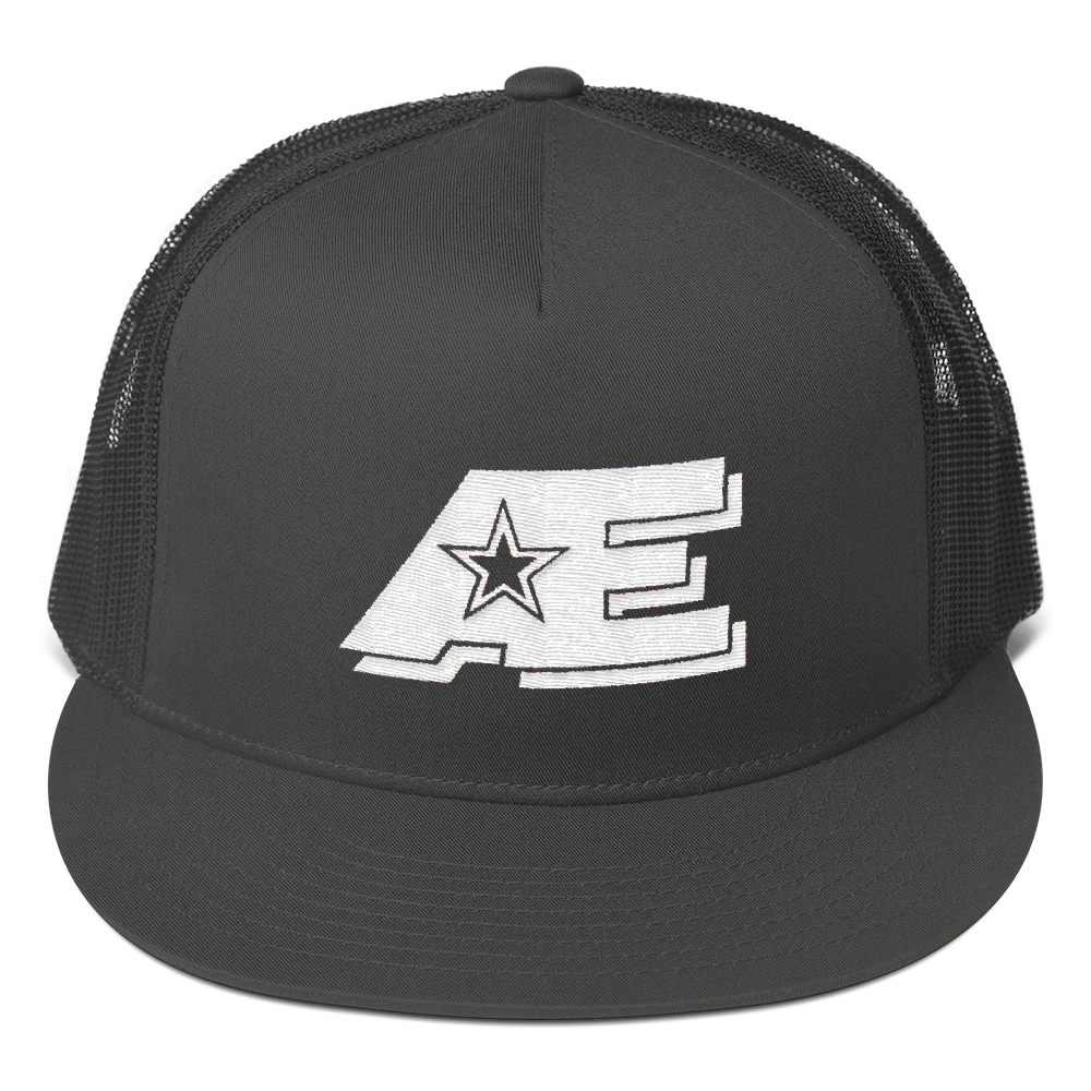 AE Logo (White on White) AthElite Advanced Mesh Back Snapback
