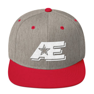 Heather Gray & Red Snap-back Hat with White AE Advanced Logo
