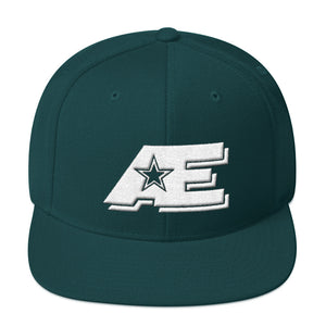Spruce Dark Green Snap-back Hat with White AE Advanced Logo