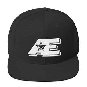 Black Snap-back Hat with White AE Advanced Logo