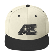 Load image into Gallery viewer, AE Logo (Black on Black) AthElite Advanced Snapback Hat