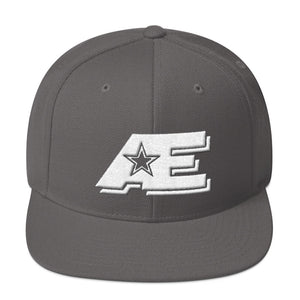 Gray Snap-back Hat with White AE Advanced Logo