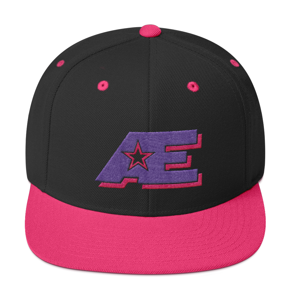 AE Logo (Pink & Purple) AthElite Advanced Unisex Snapback Hat