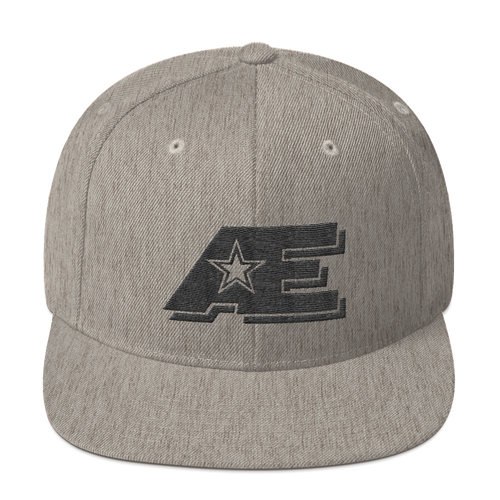 AE Logo (Black on Black) AthElite Advanced Snapback Hat