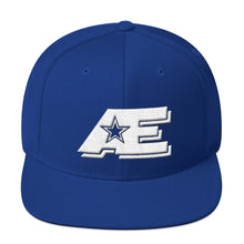 Load image into Gallery viewer, Royal Blue Snap-back Hat with White AE Advanced Logo