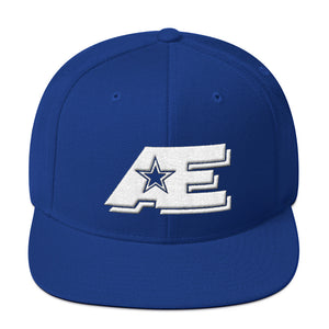 Royal Blue Snap-back Hat with White AE Advanced Logo