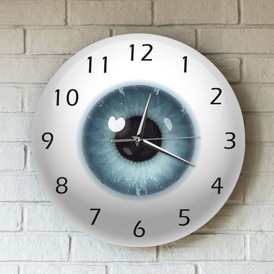 human eyeball shape wall clock