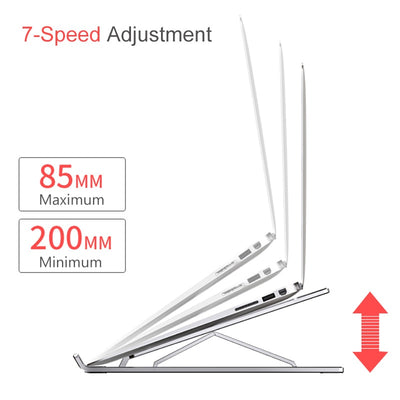 Portable 11-17inch Aluminum folding adjustable lapdesk notebook Computer Cooling support