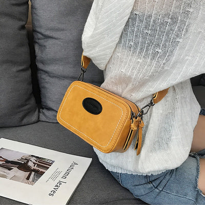 women vintage small square crossbody bag
