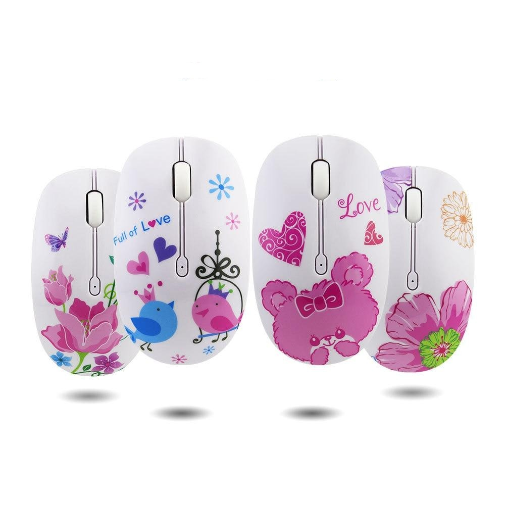 creative cartoon print wireless mouse