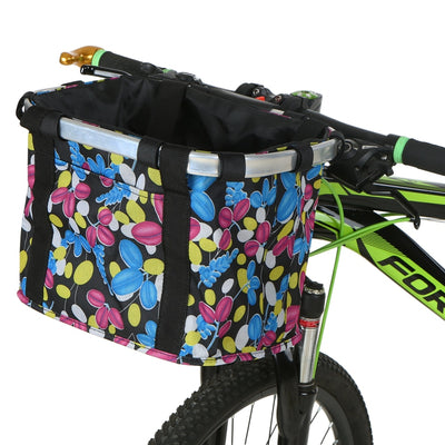 large-sized bicycle basket dog seat waterproof bicycle basket front removable bike basket carrier bag