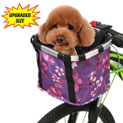 dog seat large bicycle basket