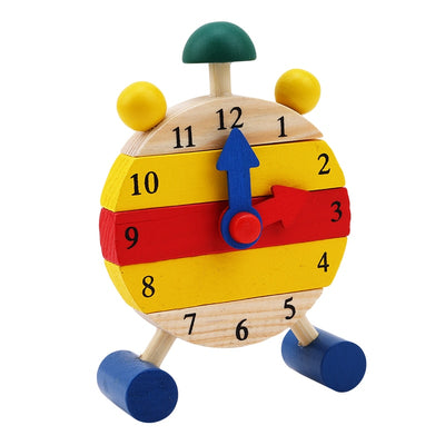 Wood Clock Knowing Time Child Toys