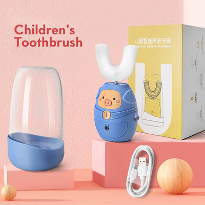 cute cartoon pattern silicone electric toothbrush for children USB charging waterproof