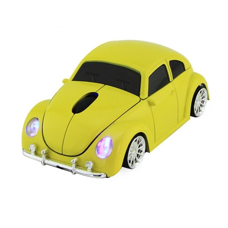 retro beetle car shape wireless optical mouse Gaming Mause USB Receiver For PC laptop computer