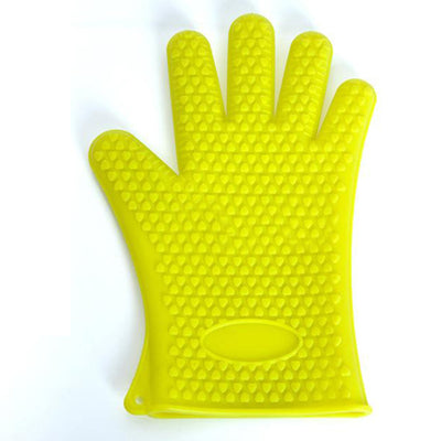 Heat Resistant Silicone Oven Glove Thick Cooking BBQ Grill Glove Oven Mitt Baking Glove Kitchen Barbecue Glove Kitchen Gadgets