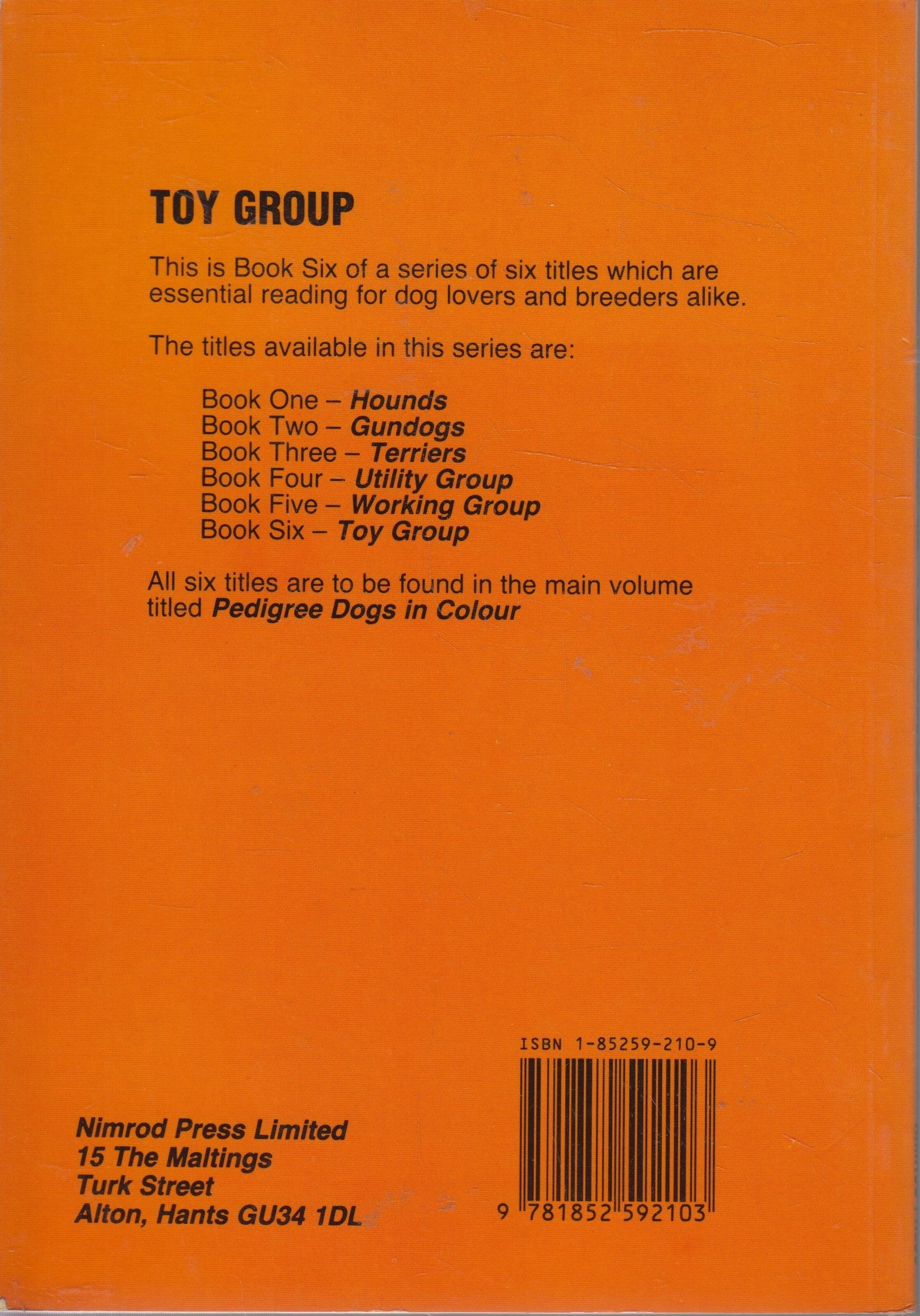 Pedigree Dogs In Colour Toy Group By Roy Hodrein Book 6