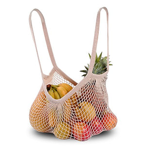 30be8d726ccb DimiDay Cotton Net Shopping Tote Ecology Market String Bag Organizer-for  Grocery Shopping & Beach, Storage, Fruit, Vegetable and Tosys (Large-Size  ...