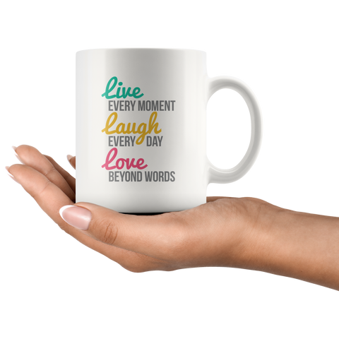 Image of Live, Laugh, Love Coffee Mug for Her