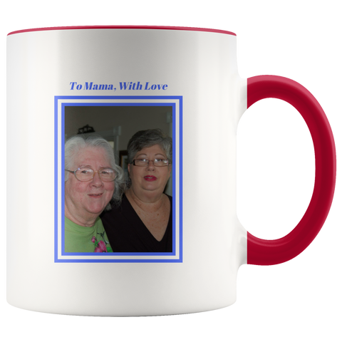 Personalized Mug - For Mama, With Love (Framed)