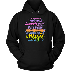 "Funny ""Where Is The Music Coming From?"" Hoodie Makes A Great Gift For Him Or Her"