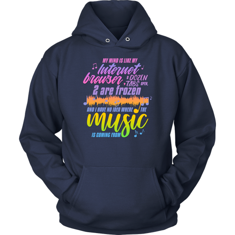 "Image of Funny ""Where Is The Music Coming From?"" Hoodie Makes A Great Gift For Him Or Her"