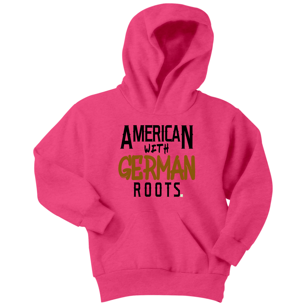"""American With German Roots"" Youth Hoodie"