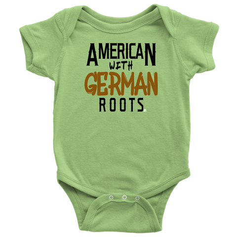 """American With German Roots"" Baby Bodysuit"