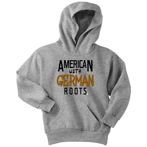 "Image of ""American With German Roots"" Youth Hoodie"
