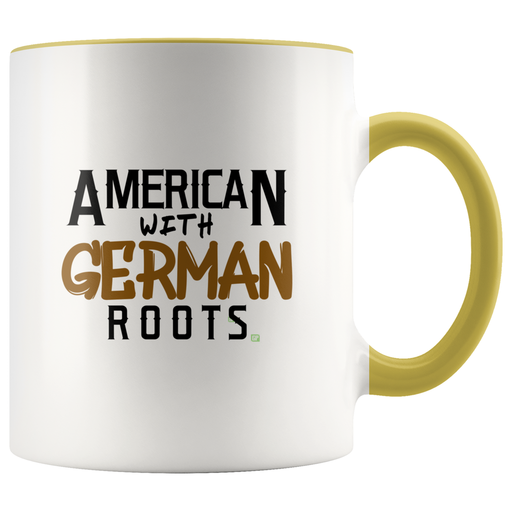 """American With German Roots"" Fun Coffee Mug, Show Your Ethnic Pride"